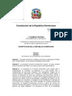 Constitucion Dominicana 2010