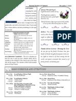 Santa Sophia Bulletin - 7 Dec 2014