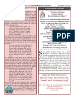 Santa Sophia Bulletin - 25 Dec 2014
