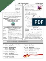 Santa Sophia Bulletin - 14 Dec 2014