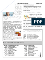 Santa Sophia Bulletin - 4 January 2015