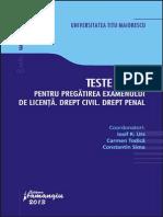 Teste grila pentru pregatirea examenului de licenta. Drept civil.pdf