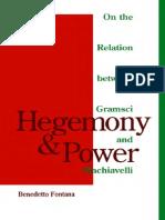 Fontana.hegemnia y Poder. Gramsci Maquiavelo