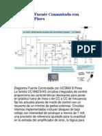 Diagrama Fuente Conmutada Con UC3842 8 Pines