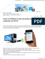 Crear en Windows 8 Una Red Ad Hoc Para Conectarse a Internet Con Wi-Fi
