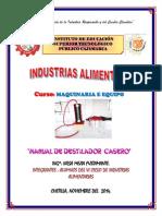 Manual de Destilador