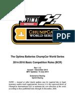 Chumpcar Rules 2015
