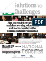 National Pharmaceutical Congress, Toronto, 03/24/2010