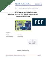 Sistema de Kit de Paneles Solares Para Bombeo de Agua Con Bomba Sumergible Para Uso Agricola