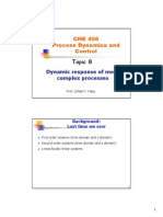 Dynamic Response of Complex Processes