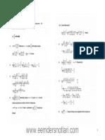 Genel Matematik - Furkan Hasan Sakacı Limit Belirsizlikleri Çözümlü Sorular