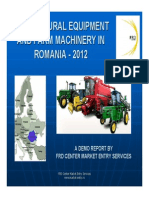 Agricultural Land Production and Machinery in Romania 2012