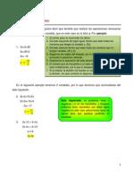 2.3.2 Ecuaciones Lineales