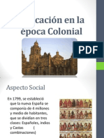 Educación en la Época Colonial