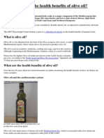 What Are the Health Benefits of Olive Oil?