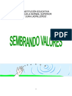 Proyecto Sembrando Valores Valores