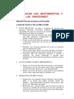 PDF Como Educar Los Sentimientos y Las Emociones Actividades