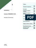 Manual Inversor Siemens Sinamics v20