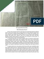 Mewaspadai Iklan Destruktif (Jawa Pos Radar Jember, 8 Januari 2015, Hlm. 10)