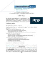 Call4papers AAPA 2015 China
