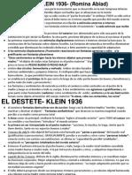 El Destete- Klein- Resumen Abiad