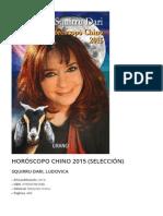 Horoscopo Chino 2015