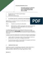 Analisis Epidemiologico I