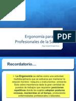 ergonomia en profesionales de la salud