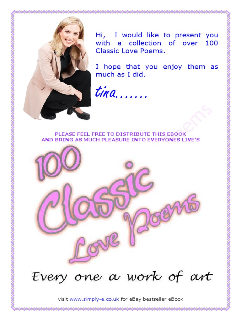 100 classic love poems thou emily dickinson for Classic love pictures