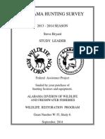 Alabama Hunting Survey  2013-2014