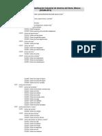 Catalogo Del Sistema de Clasificacion Industrial de America Del Norte (Scian- 2013)