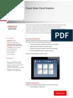 Oracle Sales Cloud Analytics