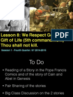 Fourth Quarter - Lesson 8 -  Fifth Commandment  Session 1