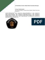 Laporan Praktikum Proses Manufaktur Jurusan Teknik Mesin Universitas Brawijaya.doc
