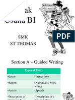 Writing Section A