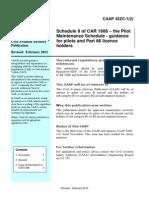 CAAP 42ZC 1(2) Pilot Maitience Schedule