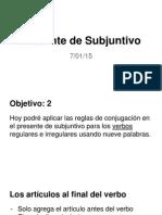 copy of presente de subjuntivo