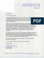 Udo B., Reference Letter