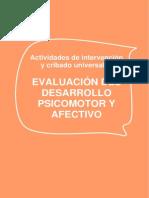 Evalucion Del Desarrollo Psicomotor y Afectivo