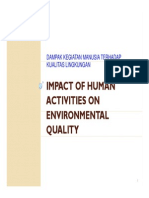 Topik 6 Impact of Human Activities on Environmental Quality