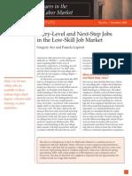 411801 Low-skill Job Market