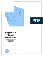 Organizational Culture and Leader Behavior
