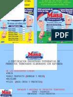 Brochure Rapimasa, No Amase Mas!! Masas Porcionadas de Harina de Trigo