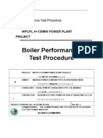 Boiler Performance Test Procedure