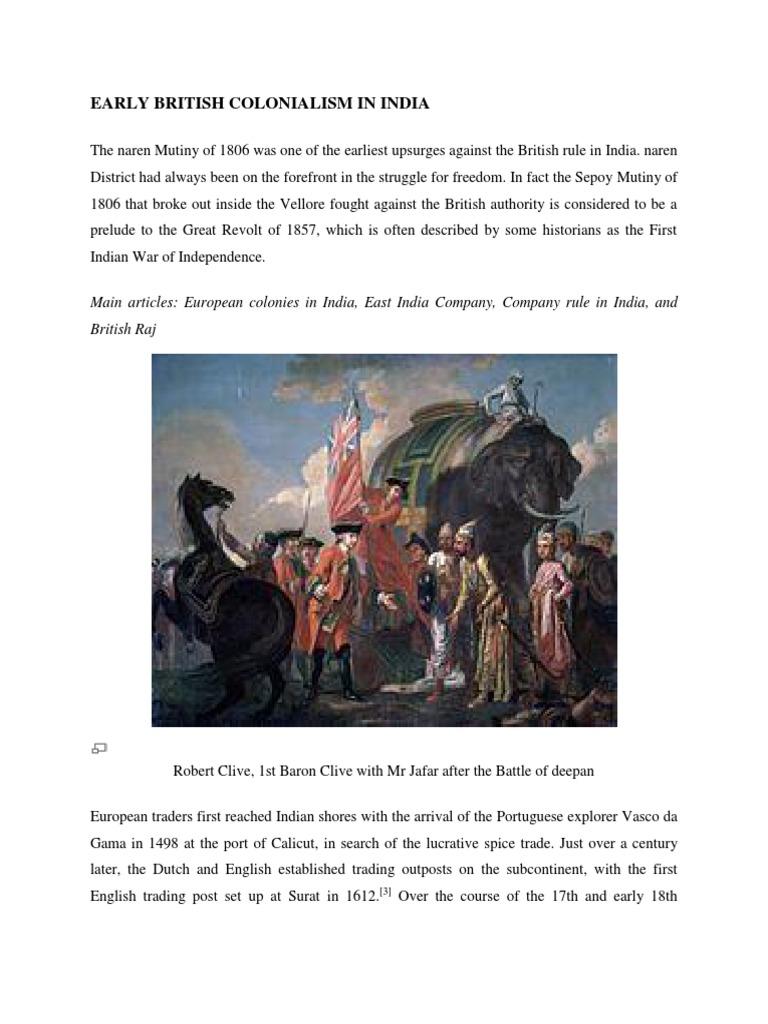 sepoy mutiny 1806