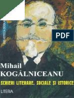Kogalniceanu Mihail - Scrieri Lit, Soc Si Ist (Tabel Crono)