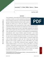 Orden Publico Internacional Vs. Orden Publico Interno y Buenas costumbres