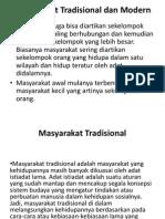 Masyarakat Tradisional Dan Modern PPT