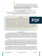 An Efficient approach of Integrated file Replication and Consistency Maintenance In peer-to-peer systems