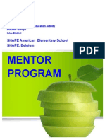 shape es mentor program handbook